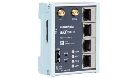 Industrial Ethernet Router, REX 100 LTE (EU- & Asia version)